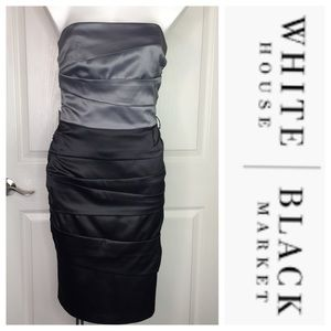 White House Black Market Strapless Gown Dress